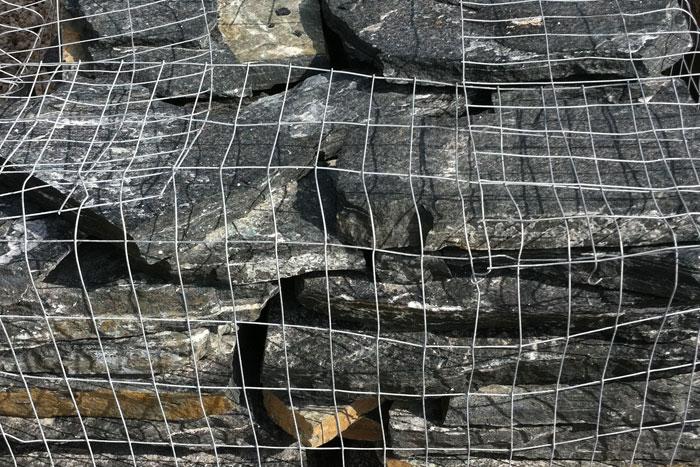 black regency flagstone