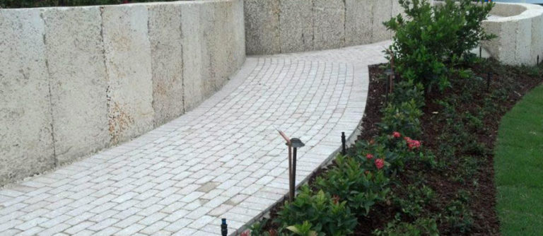 Oolite Retaining Walls