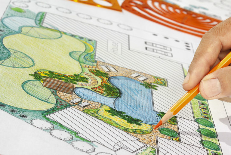 hardscape garden design